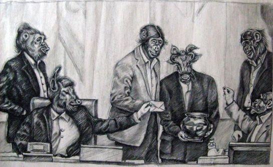 نمایندگان مجلس، به روایت هنر آتنا فرقدانی - روی کارتون کلیک کنید
