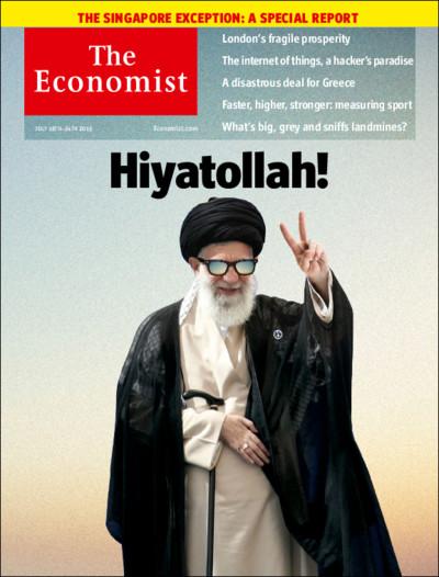 روی جلد مجله ی وزین اکونومیست